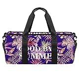 ASDFSD Bolsa de deporte con bolsa impermeable para el gimnasio, bolsa de viaje para el fin de semana, color morado