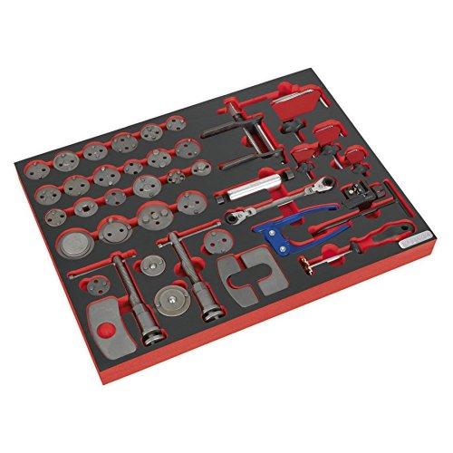 SEALEY tbtp10Werkzeug Tablett mit Bremse Service Werkzeug-Set (42-teilig)