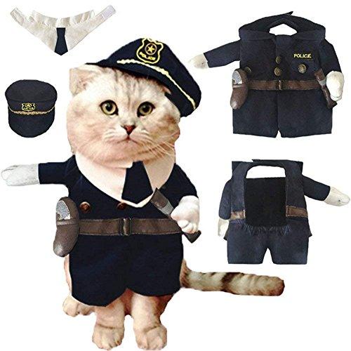 【Tona】 犬服 猫服 コスチューム ハロウィン クリスマス 面白い かわいい 変身服 ペット服 小型犬 中型犬 変身服 可愛いにポリスマンに変身