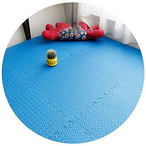 YAYADU Alfombras Puzzle, Almohadilla De Espuma EVA Suave, Estera Protectora for Gimnasio, Tapetes De Garaje, Azulejos De Rompecabezas (Color : Blue, Size : 6pcs)