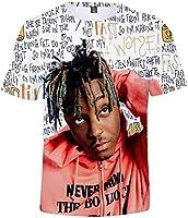 MINIDORA Juice WRLD ジュースワールド Tシャツ ボーイズ 人気 オシャレ アメリカ 欧米風 シャツ 歌手 3Dプリント 男女兼用 流行 贈り物(XL E08776)