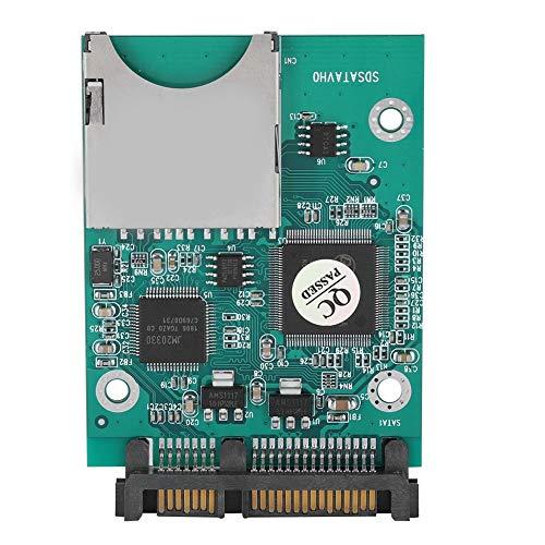 Wendry SD naar SATA adapter converter, 22MB / s SD/SDHC/SDXC/MMC-geheugenkaart voor snelle overdracht naar 2,5 inch 7 + 15P SATA Converter Adapter
