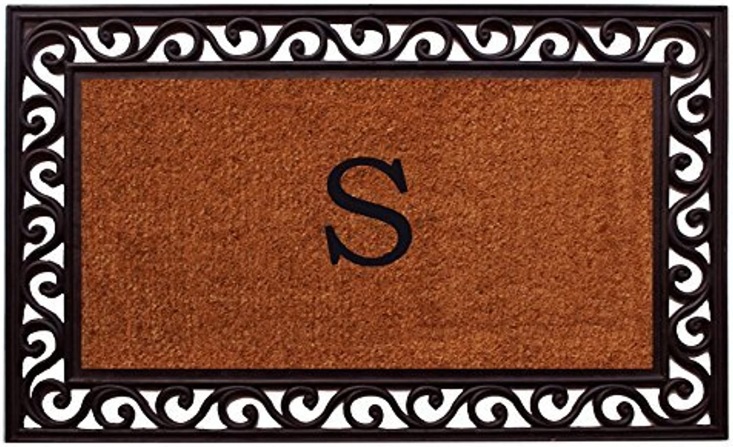 Home & More 100061830S Rembrandt Monogram Doormat 18-Inch X 30-Inch (Letter S)