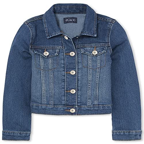 The Children's Place girls Denim Jacket, Azurewash, 7 8 US