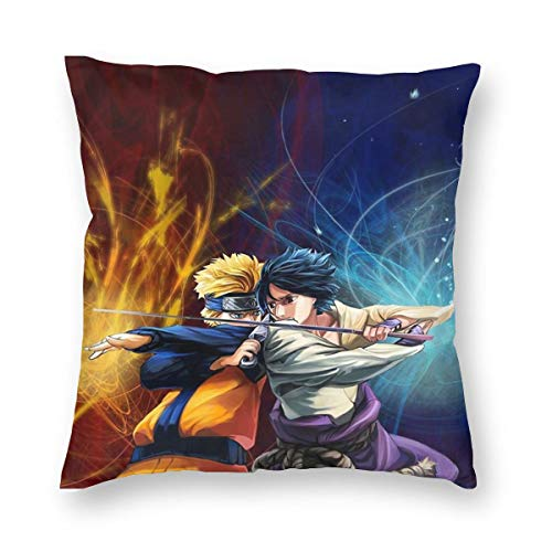 Anime Naruto Square Decorative Throw Pillow Cases Cushion Covers - 18 X 18 Inch for Home, Couch, Sofa, Or Bed, Modern Design