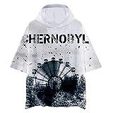 Chernobyl Camiseta Exquisita versin Coreana para Hombre Camiseta Deportiva de Manga Corta para Hombres Camiseta bsica de algodn con Cuello Ancho (Color : A06, Size : XXXL)