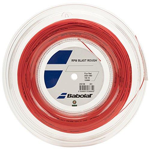 Babolat RPM Blast Rough 200M Cordaje de Tenis, Unisex Adulto, Rojo (Rouge Fluo), 130