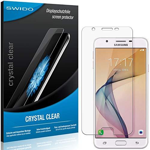SWIDO Schutzfolie für Samsung Galaxy On5 (2016) [2 Stück] Kristall-Klar, Hoher Festigkeitgrad, Schutz vor Öl, Staub & Kratzer/Glasfolie, Bildschirmschutz, Bildschirmschutzfolie, Panzerglas-Folie
