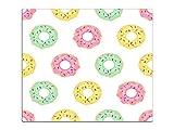 Herdabdeckplatte Schneidebrett Spritzschutz aus Glas HA573494647 Donuts Comic Variante 1x Scheibe (1 Panel) für Küche, Grill-Profis und Dinner