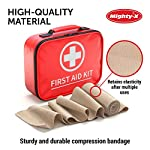 Premium Elastic Bandage Wrap - 8 Pack + 8 Extra Clips - Durable Compression Bandage (4X - 3 inch, 4X - 4 inch Rolls… 9 ✅ 2 DIFFERENT SIZES - Your package includes four 3-inch rolls and four 4-inch rolls of elastic bandages. It provides more possibilities for effective wrapping various injuries, so, you can get back to feeling like a boss. Our smaller bandage is perfect for covering smaller areas like your wrists, ankles, and elbows, while the larger bandage is ideal for larger areas as shoulders, calves, or knees. ✅ SUPERIOR ELASTICITY - We made our high-quality compression bandage wrap from premium polyester. You're going to feel great because it provides supportive compression for keeping your muscles snug as a bug in a rug. Also, the Mighty-X crepe bandage can extend up to 15ft when fully stretched, which is enough to cover most areas. ✅ INDIVIDUALLY PACKAGED - Each elastic bandage wrap is enveloped in a protective wrapper until you're ready to use it. We do this to keep your compression wrap hygienic and debris-free to help prevent any kind of irritation.