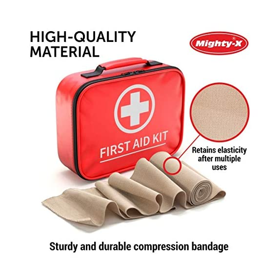 Premium Elastic Bandage Wrap - 8 Pack + 8 Extra Clips - Durable Compression Bandage (4X - 3 inch, 4X - 4 inch Rolls… 2 ✅ 2 DIFFERENT SIZES - Your package includes four 3-inch rolls and four 4-inch rolls of elastic bandages. It provides more possibilities for effective wrapping various injuries, so, you can get back to feeling like a boss. Our smaller bandage is perfect for covering smaller areas like your wrists, ankles, and elbows, while the larger bandage is ideal for larger areas as shoulders, calves, or knees. ✅ SUPERIOR ELASTICITY - We made our high-quality compression bandage wrap from premium polyester. You're going to feel great because it provides supportive compression for keeping your muscles snug as a bug in a rug. Also, the Mighty-X crepe bandage can extend up to 15ft when fully stretched, which is enough to cover most areas. ✅ INDIVIDUALLY PACKAGED - Each elastic bandage wrap is enveloped in a protective wrapper until you're ready to use it. We do this to keep your compression wrap hygienic and debris-free to help prevent any kind of irritation.