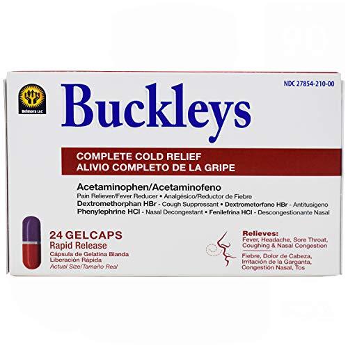 Buckleys Cold Relief Gel Caps, 24 Count