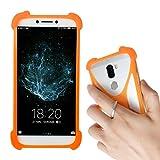Lankashi Orange Silikon Schutz Tasche Hülle Case Ring Halter Ständ Cover Handy Etui Handyhülle Handytasche Für Phicomm Energy M+ 3+ L Passion 4s Brondi 620 SZ 730 Mobistel T6 T8 F3 F4 F5 F6 Universal