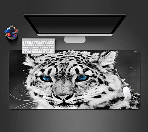 Cool Blue Eye Cheetah Mousepad Computer Game Accessoires Muis Pad Gaming Play Pads Toetsenbord Matten Die Gamers Net als 900 * 400 * 3 Mm
