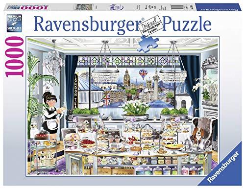 Ravensburger 13985 Pz London Tea Party Puzzle 1000 Teile Fantasy, bunt