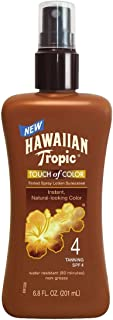 Hawaiian Tropic Sunscreen Touch of Color Sun Care Sunscreen Spray Lotion - SPF 4, 6.8 Ounce