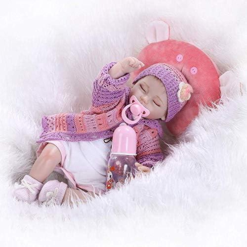 Rocking Horse Leben Wie Neugeborene Realistische Puppen Echt Aussehende Reborn Baby Doll Weißhes Vinyl Silikon Spielzeug Freies Magnet Schnuller Dummy,Sleeping