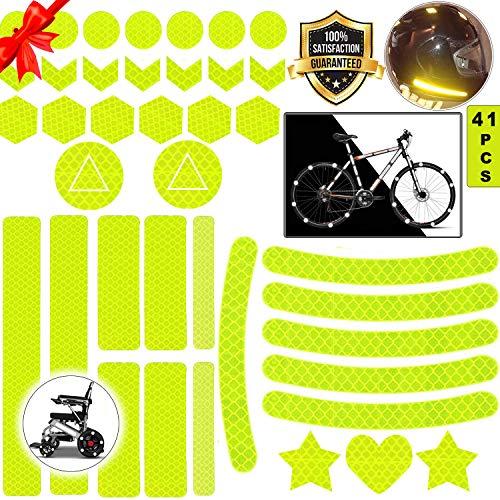 Reflektoren Aufkleber Sticker,Reflektor Aufkleber Set,reflexfolie selbstklebend,reflexfolie Fahrrad,Reflektoren Aufkleber für Kinderwagen Fahrrad und helme