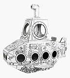 Ricco GL13429 Mini Submarino casa de Juegos de cartón
