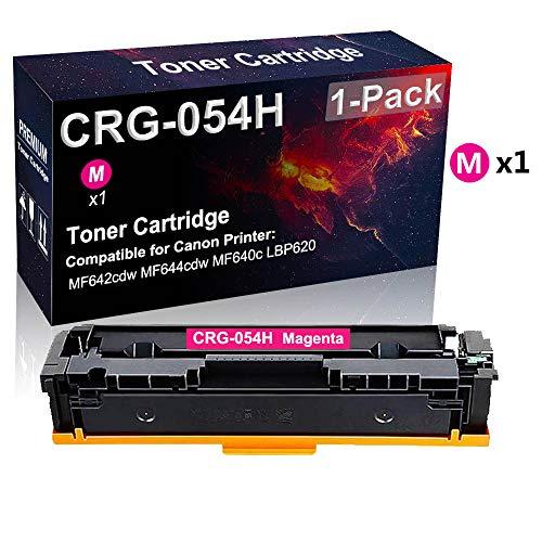 Cartuccia toner compatibile per stampante laser 054H CRG-054H (magenta) utilizzata per stampante Canon Color imageCLASS MF644cdw MF640C LBP620 (alta resa)