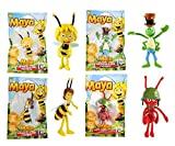 Maya The Bee - Juego de 4 Figuras articuladas de Personajes Miss Casandra, Flip & Paul