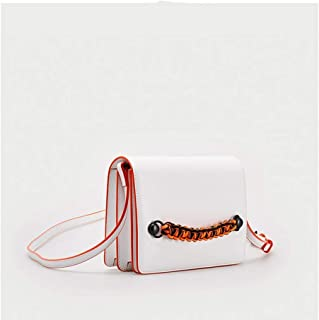 Outdoor Business Travel Tote/Youth Ladies Accessories Accessories Rope Messenger Bag. jszzz (Color : White)