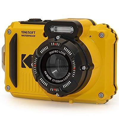 "KODAK PIXPRO WPZ2 Rugged Waterproof Digital Camera 16MP 4X Optical Zoom 2.7"" LCD Full HD Video, Yellow by Kodak"