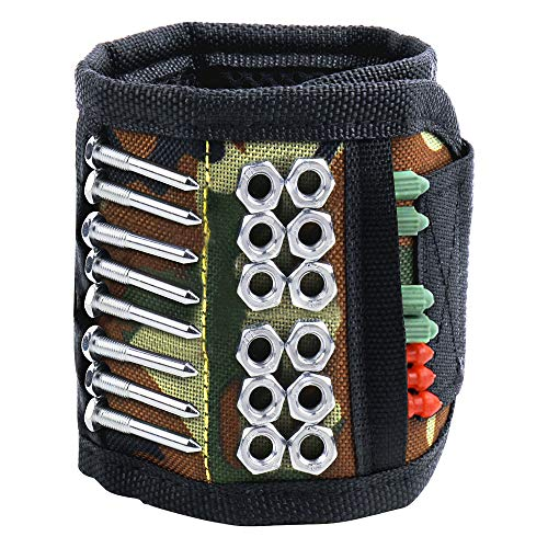 AriTan Magnetic Wristband, Tool Belt with 15 Powerful Magnets for Holding Screws Nails Drill Bits, Best Unique Gifts Tool for Men DIY Handyman, Father/Dad, Husband, Boyfriend