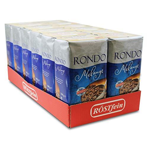 12er Pack Rondo Melange Röstkaffee (12 x 500 g) gemahlen und aromaversiegelt, Kaffeepulver