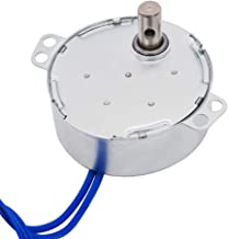Twidec/With 7mm Flexible Coupling Connector Synchronous Motor AC100~127V 50/60HZ Turntable Synchron Motor 4W CW/CCW Electric Motor 2.5-3RPM/MIN TYC-50-2.501