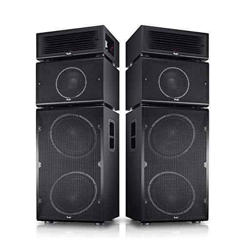 Teufel Power HiFi Stereo-Set Schwarz Stereo Lautsprecher Musik Sound Hochtöner Mitteltöner Bass Speaker High End HiFi Tieftöner Schalldruck