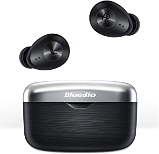 Bluedio TWS Wireless Earbuds with Qualcomm Chip HiFi Low Latency Wireless Earbuds with Deep Bass Touch Control Face Recogn...