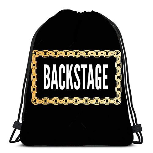 Vince Camu Geschenktasche,Tunnelzug Gymsack,Sporttaschen,Leichter Turnbeutel,Tanz Taschen,Slogan Backstage Mode