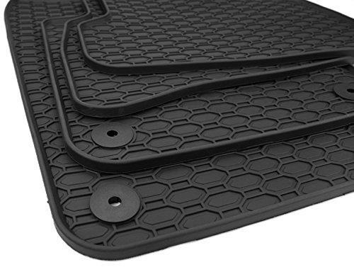 Kfzpremiumteile24 Gummimatten Kompatibel mit Polo 6R 6C Fabia NJ Ibiza 6J Premium Fußmatten Premium Gummi Allwetter Schwarz 4-teilig