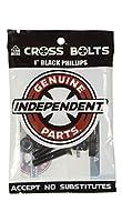 """INDEPENDENT TRUCKS (インディペンデント) CROSS BOLTS ボルト PHILLIPS (プラス) / ALLEN (六角) 7/8"""" 1"""" INCH スケートボード (1 INCH, BLACK - PHILLIPS (プラス))"""