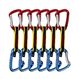Geelife Crag Express Quickdraw Set CE Certified Rock Climbing Gear Quickdraws 11cm Pack of 6
