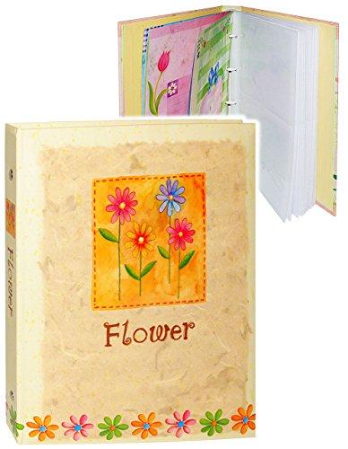 alles-meine.de GmbH Einsteckalbum / Fotoalbum -  Flower - Blumen - gelb  - 11x15 & 10x15 - Ringbuch beliebig erweiterbar - zum Einstecken - für bis zu 80 Bilder - groß Gebunden..