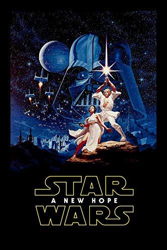 Star Wars Episodio IV New Hope 17 – Póster de la película – Mejor reproducción artística de calidad para decoración de pared, Poster A4
