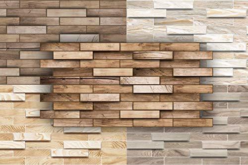 3D Wandpaneele Restposten! - große Auswahl von stabilen und pflegeleichten PVC Platten - zur Wandverkleidung z. B. als Küchenrückwand - 1 Platte (ALDER)