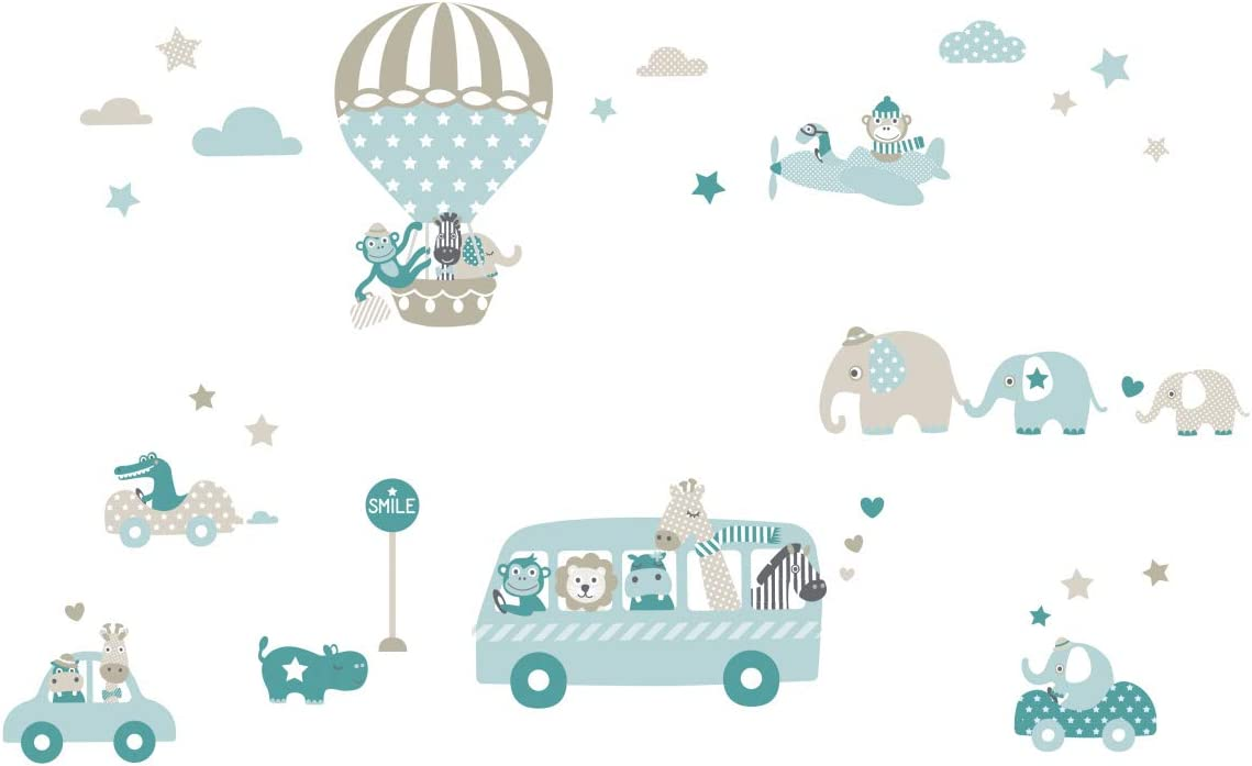 lovely label Wall Decals Animals 商品追加値下げ在庫復活 ON Non – Mint Taupe Tour 直営店 Petrol