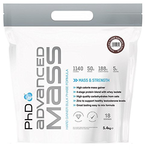 Advanced Mass, Luxury Vanilla - 5400 grams gainer carbs whey protein mass growth muscle gain mass building bodybuilding by PhD M