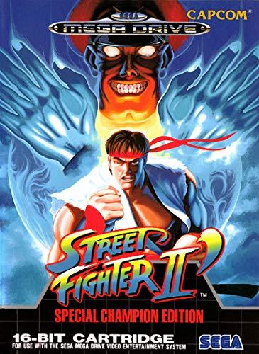 ELITEPRINT Póster de Street FGHTER 2 edición campeón SEGA MEGA Drive Classic...