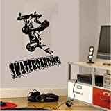 Skateboarding Acción Difícil Pegatinas De Pared Para Niños Dormitorio Decoración De Arte Para El Hogar Calcomanías De Vinilo Extraíbles Skate Club Poster 57 * 75Cm