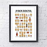 """50 Best Bourbons Scratch Off Poster - The Bourbon Bucket List - Top Bourbons You Need to Try at Least Once! (12"""" x 18"""")"""