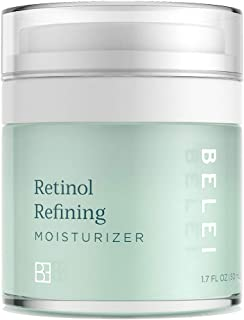 Belei by Amazon: Retinol Vitamin A Refining Moisturizer, Fragrance Free, Paraben Free, 1.7 Fluid Ounce (50 mL)