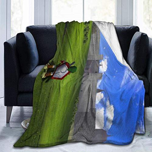Zelda Ocarina of Time Decke aus Mikrofleece, hergestellt in Großbritannien, Anti-Pilling, leicht, Sofa, Plüsch, Bett, Couch, Wohnzimmer