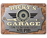 Garage Personalized Metal Sign - Durable Metal Sign - 8' x 12' or 12' x 18' Use Indoor/Outdoor - Funny Auto Shop and Home Decor and a Great Gift for Mechanic Under $25