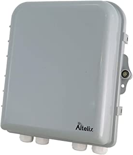 Altelix 10x9x4 Polycarbonate ABS Weatherproof Utility Box Plastic Outdoor NEMA Enclosure with Locking Door, Cable Glands, Wire Management & Wall Mount Hardware. Interior approx. 9.4 x 7.8 x 3.4 Inches
