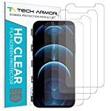 Tech Armor HD Clear Plastic Film Screen Protector (NOT Glass) for Apple New iPhone 12 Pro Max (6.7') - Case-Friendly, Scratch Resistant, Haptic Touch Accurate [4-Pack]