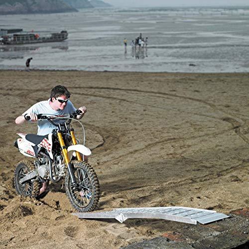 2x Rampe de chargement Moto ATV Pliable Aluminium Rail d'accès 228cm 1360kg